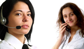 Call Center Operators Stock Images