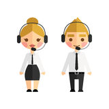 Call center operators Royalty Free Stock Photos