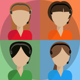 Call-Center Operators Royalty Free Stock Images