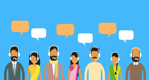Call Center Operators Team, Indian Man Woman Customer Support People Group Stock Photos