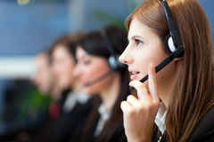 Call center operators at work Royalty Free Stock Photos