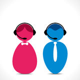 Call center people icon vector Royalty Free Stock Images