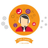 Call center people working with head Stock Photography