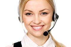 Call center professional Royalty Free Stock Images