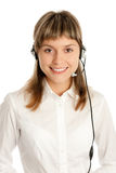Call-center representative Royalty Free Stock Photo