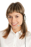 Call-center representative Stock Image