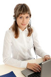 Call-center representative Royalty Free Stock Photo