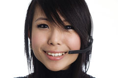Call center representative Royalty Free Stock Photo