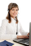 Call-center representative Royalty Free Stock Image