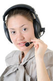 Call-center representative Stock Photo