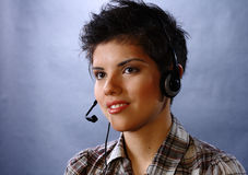 Call center representative Stock Image