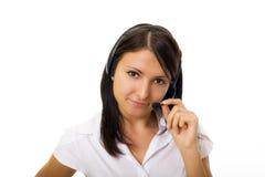 Call-center representative. Customer service Royalty Free Stock Photo