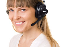 Call-center representative isolated Stock Image
