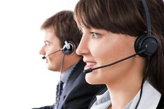 Call-center representatives Royalty Free Stock Photo