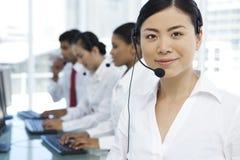 Call center representatives Stock Photos