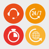 Call center service communication Royalty Free Stock Images