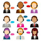 Call Center Service Diversity Icons Royalty Free Stock Photos
