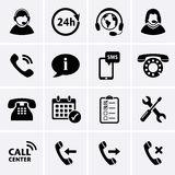 Call Center Service Icons Royalty Free Stock Photography