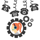 Call center service icons Stock Photography