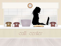 Call center service Stock Image