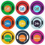 Call center set 01 Stock Image
