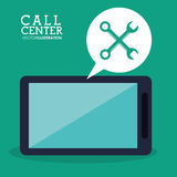Call center smartphone technical app Royalty Free Stock Images
