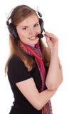 Call center sorridente del personale Fotografia Stock Libera da Diritti