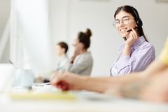 Call center staff Royalty Free Stock Image