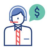 Financial advisor FlatOutline illustration vector illustration