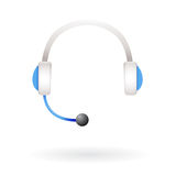 Call center support headphones Stock Photography