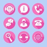 Call Center Support Icons Royalty Free Stock Photography