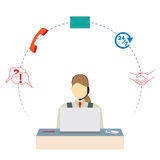 Call center. Support service. Stock Images