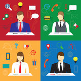 Call center. Support service. Royalty Free Stock Images