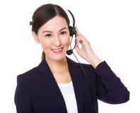 Call center supportor Royalty Free Stock Photos