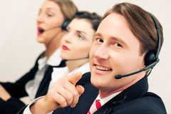 Call center team Royalty Free Stock Photography