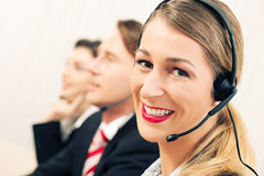 Call center team Stock Image