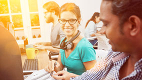 Call center team in India. Servicing in cooperation as team royalty free stock photos