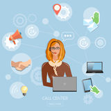 Call center, technical support Royalty Free Stock Photo