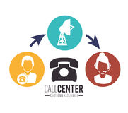 Call center and technical support Stock Photo