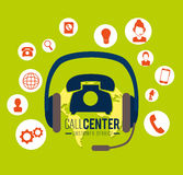 Call center and technical support Royalty Free Stock Photo