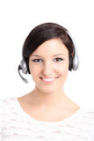 Call center technician portrait Stock Images