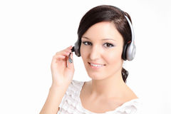 Call Center Technician With Headset Stock Image