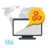 call center technology computer digital support Royalty Free Stock Photos
