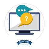 Call center technology helpline chat Royalty Free Stock Photo
