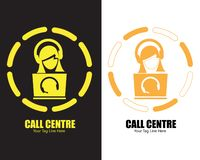 Call Center Telecommunication logo design royalty free illustration