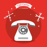 Call center telephone contacts tools Royalty Free Stock Photography