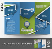 Call Center Tri-fold Brochure Stock Photography