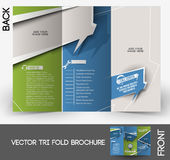 Call Center Tri-fold Brochure Royalty Free Stock Image