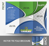 Call Center Tri-Fold Brochure Stock Images
