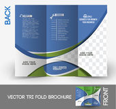 Call Center Tri-Fold Brochure Stock Image